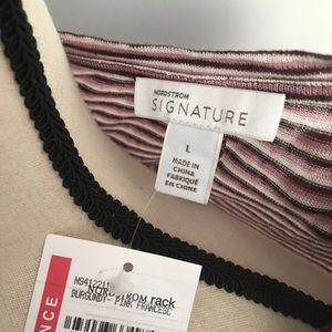 Nordstrom Tops - Nordstrom Signature striped linen top purple